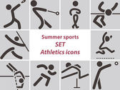 Set of athletics icons — Vettoriale Stock