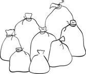 Outline group of sacks — Vettoriale Stock