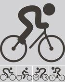 Icone del ciclismo — Vettoriale Stock