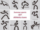 Set of athletics icons — Stock Vector