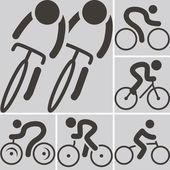 Icono ciclismo de carretera — Vector de stock
