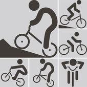 Icona di ciclismo bmx — Vettoriale Stock