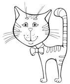 Divertidos dibujos animados gato — Vector de stock