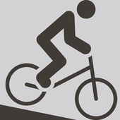 Cycling BMX icon — Stock Vector