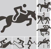 2381 - Paardensport pictogrammen — Stockvector