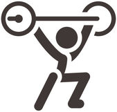 Weightlifting icon — Stock Vector