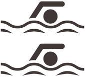 Icono de natación — Vector de stock