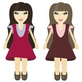 Two nice girls — Stock Vector