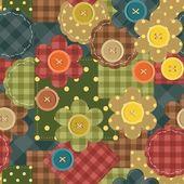 Çiçek ile sorunsuz patchwork arka plan — Stok Vektör