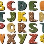 Различные текстуры записки алфавит на белом фоне — Cтоковый вектор