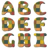 Patchwork scrapbook alfabe bölüm 1 — Stok Vektör
