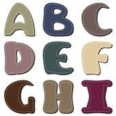 不同的颜色字母剪贴簿第 1 部分 — 图库矢量图片