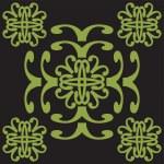Green ornament — Stock Vector #1280768