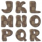 parte Patchwork scrapbook alfabeto 2 — Vector de stock