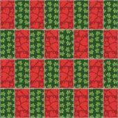 пэчворк фон с различными узорами — Cтоковый вектор