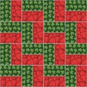 Farklı desenler ile patchwork arka plan — Stok Vektör