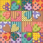 Patchwork background with different patterns — Vecteur