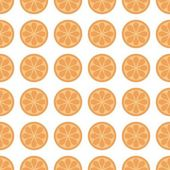 Seamless background with oranges — Stock Vector