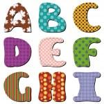 Patchwork scrapbook alphabet part 1 — Stock Vector #13477061
