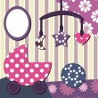 Baby room scrapbook style - Stock Vector