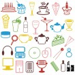 Many different objects on white background - Stock Vector