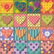 Patchwork background with different patterns — Stock Vector #13477114