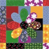 Fond de patchwork avec des modèles différents — Vecteur
