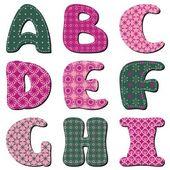 συνονθύλευμα λευκώματος αλφάβητο μέρος 1 — Διανυσματικό Αρχείο