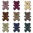 Nice scrapbook teddy bears on white — Vettoriali Stock