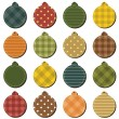 Christmass decor balls scrapbook on white background — ストックベクター #13811412