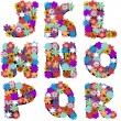 Royalty-Free Stock Vector Image: Alphabet with flowers on white background