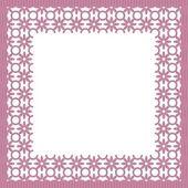 рамка с белым кружевом — Cтоковый вектор