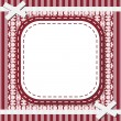 Stock Vector: Frame with lace