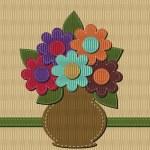 Scrapbook bouquet of flowers — Stock Vector