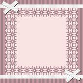 Frame with lace — Stock Vector