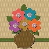 Notatnik bukiet kwiatów — Wektor stockowy