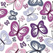 Seamless background with butterflies — Stock Vector