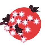Japanese style illustration — Stock Vector