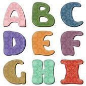 Diversi colori lettere scrapbook parte 1 — Vettoriale Stock