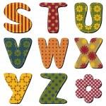 Scrapbook alphabet on white background — Stock Vector