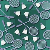 Background with collection of tennis racket — Stock Vector