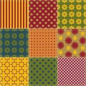 Fundo de retalhos com diferentes padrões — Vetorial Stock
