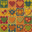 Royalty-Free Stock Vektorfiler: Scrapbook hearts