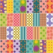 Patchwork background with different patterns — Stock Vector #18832485