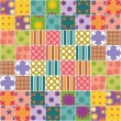 Patchwork background with different patterns — Stock Vector #18832553