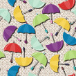 Seamless background with umbrellas — Vector de stock