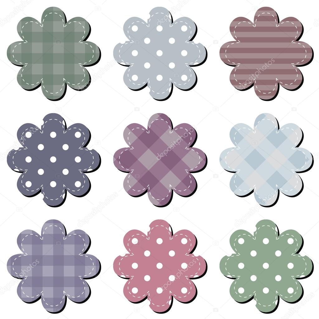 Scrapbook Flowers on White