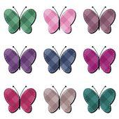 Scrapbook motýli — Stock vektor