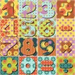 Stock Vector: Patchwork background with numbers