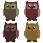 Four nice owls — Stock Vector #38207681